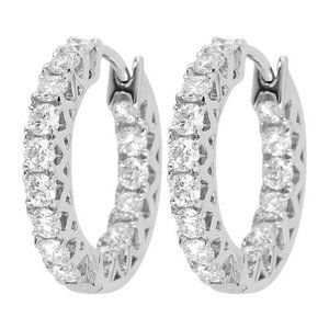 Jewelry - 3.20 ct round cut Inside out diamonds women Huggy